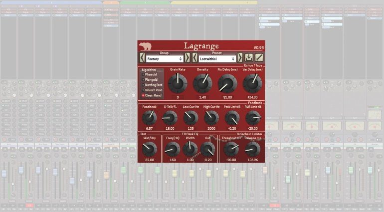 LaGrange Plug-in Delay GUI Freware