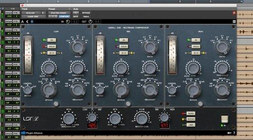 Lindell Audio 354E Kompressor Limiter Plug-in GUI Pro Tools