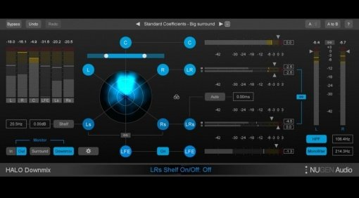 Nugen Audio Halo Downmix Surround Stereo Plug-in VST GUI