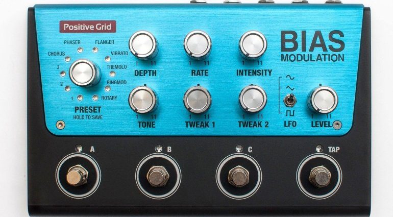 Positive Grid BIAS Modulation Effekt Pedal Modelling Top