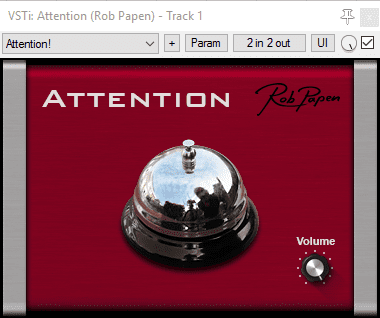 Rob Papen Attention PLug-in GUI Freeware