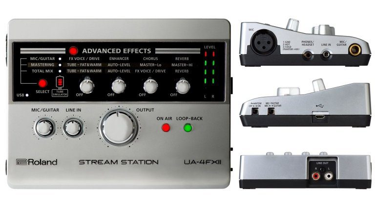Roland Stream Station UA-4FX2 USB Audio Interface Front Side Back