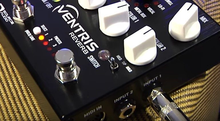 Source Audio Ventris Reverb Effekt Pedal Seite