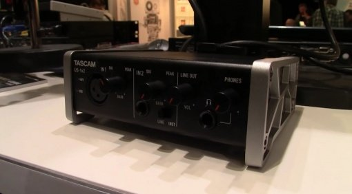Tascam US 1x2 USB Audiointerface Front