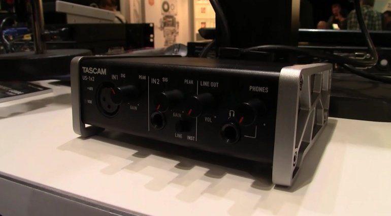 Tascam US 1x2 USB Audiointerface Front
