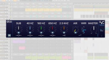 Volko Audio Q3D Equalizer EQ Plug-in GUI Bitwig Studio 2