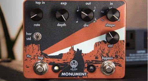 Walrus Audio Monument Harmonic Tap Tremolo pedal front copy