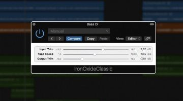 Airwindows Iron Oxide Classic Tape Saturation PLug-in GUI Logic