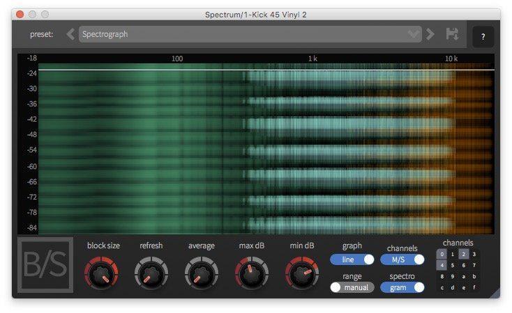 Ben/Schulz Spectrum Analzyer Plug-in GUI 2
