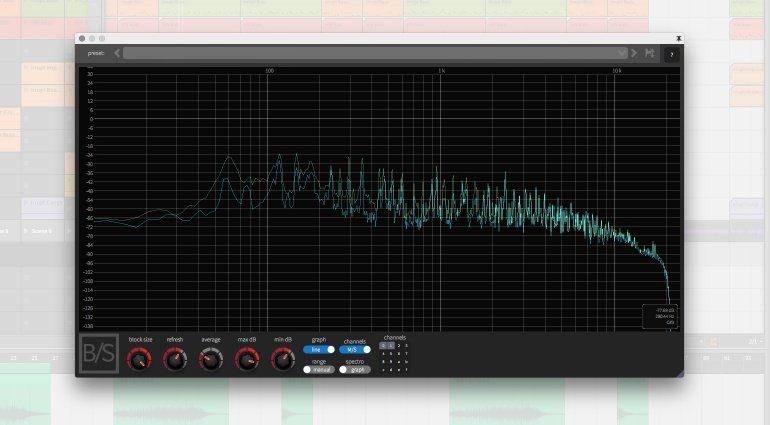 Ben/Schulz Spectrum Analzyer Plug-in GUI Teaser