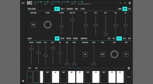 DRC Synth App, iOS