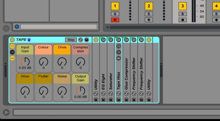 ELPHNT Analog Tape - kostenlose Bandmaschine als Ableton Live Rack