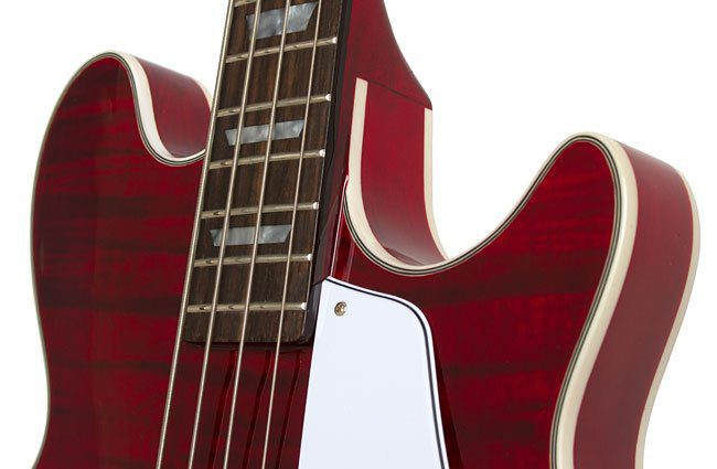 Epiphone Jack Casady 20th Anniversary Bass Wine Red Body Neck