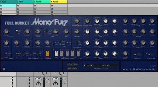 Full Bucket Music Mono/Fury v.2.0.0 - kostenlose Korg Mono/Poly Emulation
