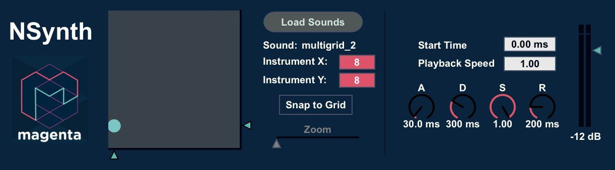 NSynth Max for Life Plug-in GUI