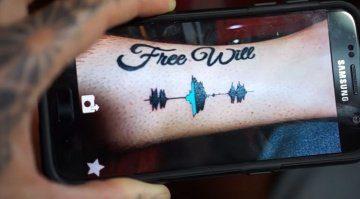 Skin Motion Soundwave Tattoo