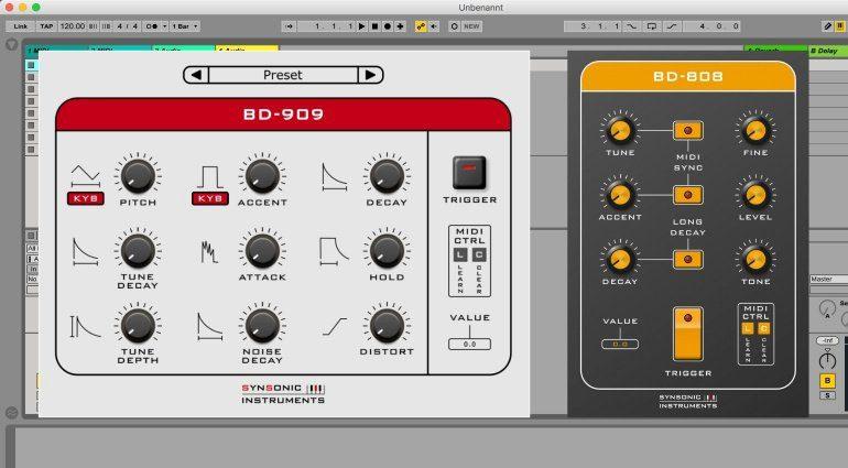 Synsonic verschenkt Roland TR-808 und TR-909 Kickdrum Plug-ins
