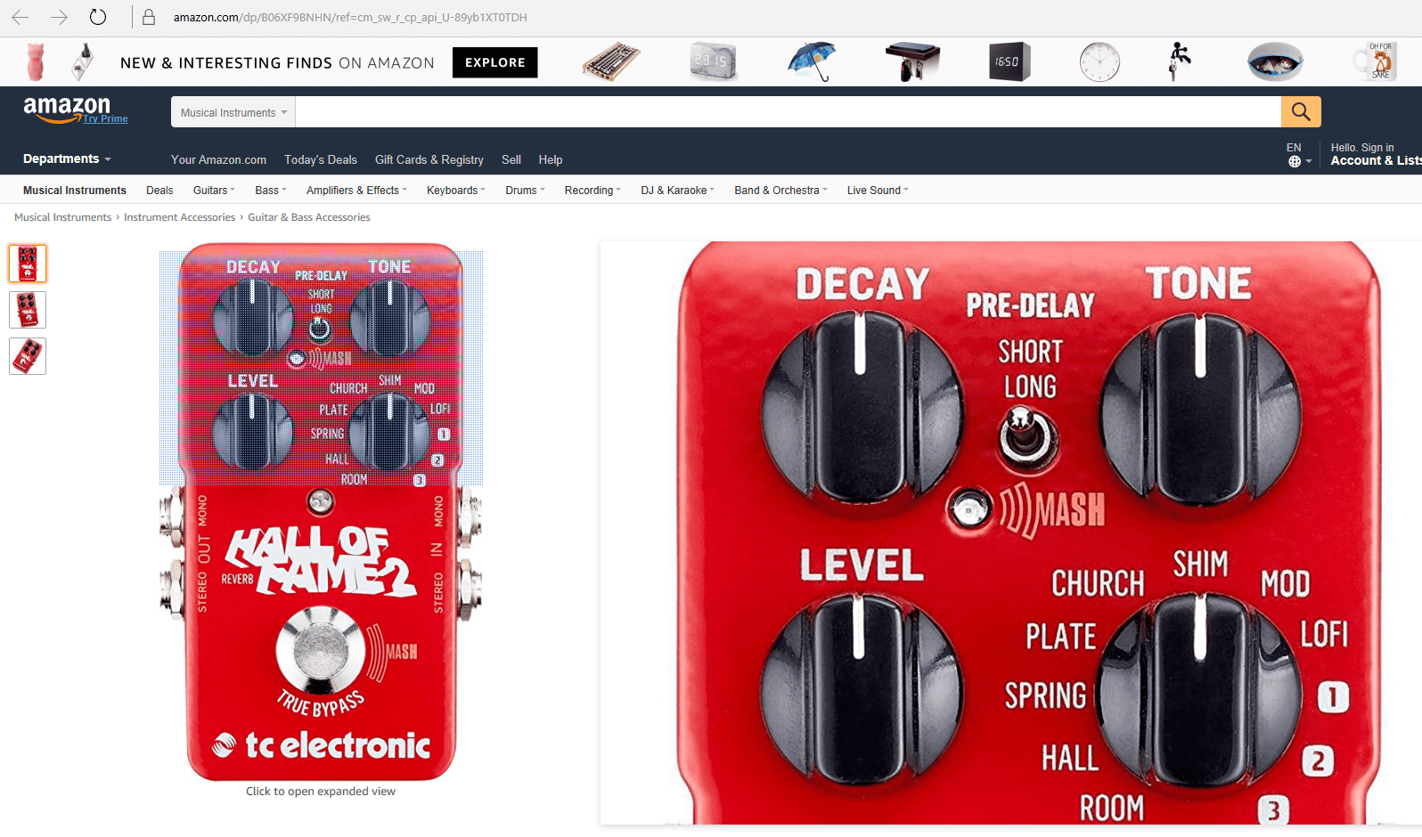 TC Electronic Hall Of Fame 2 Pedal Front Leak