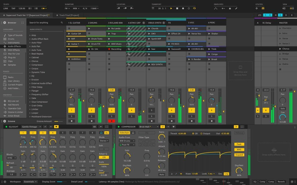Ableton Live 10 Mockup Editor Session View