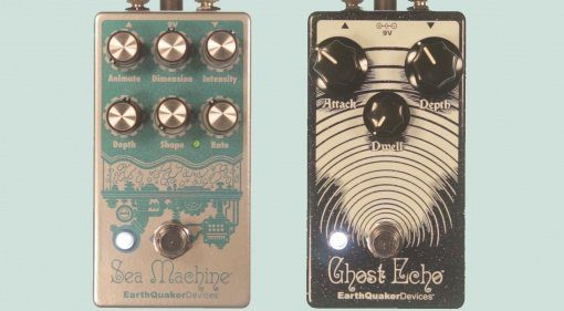 Earthquaker Devices Sea Machine Gohst Echo Pedals Front