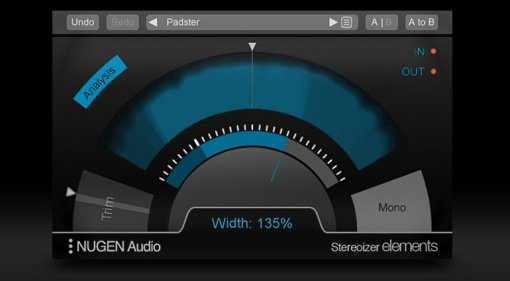 Focusrite Nugen Audio Stereoizer Elements Plug-in Effekt GUI