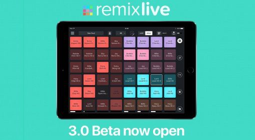 Remixlive iOS goes Fingerdrumming