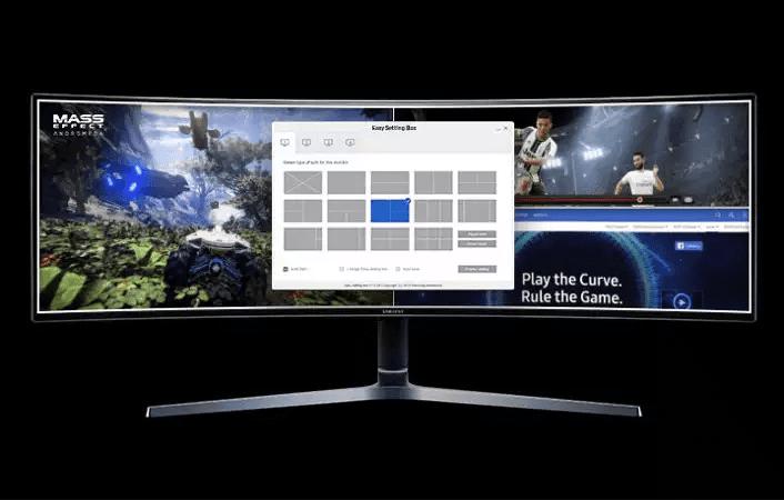 Samsung CHG90 Splitscreen