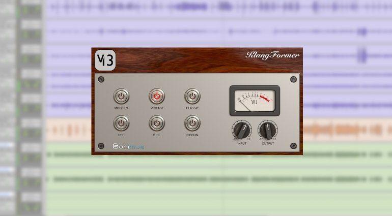 Sonimus KlangFormer Plug-in GUI Weissklang Mikrofon Modelling
