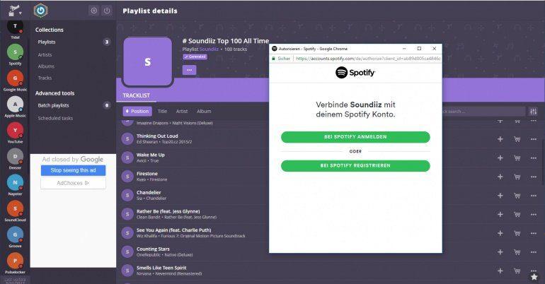 Soundiiz: Datenaustausch zwischen wie Apple Music, Deezer, Spotify, Pulselocker und Co.