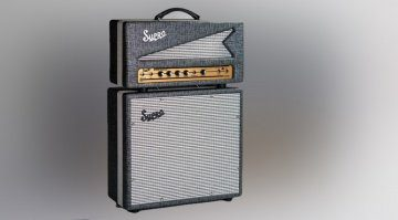 Supro 1695TH Black Magick Topteil Box Amp Front