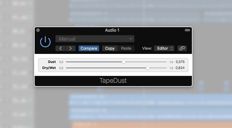 Airwindows TapeDust Plug-in Effekt GUI Logic X