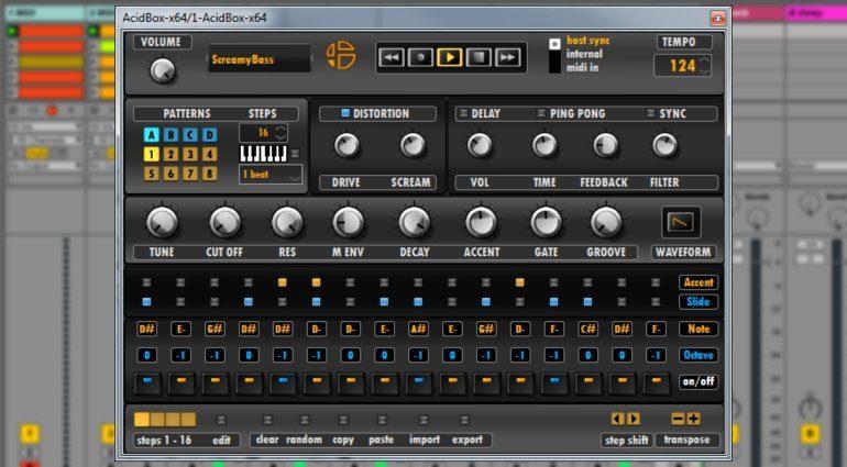 Audioblast Acidbox - die virtuelle Roland TB-303 für euren Rechner
