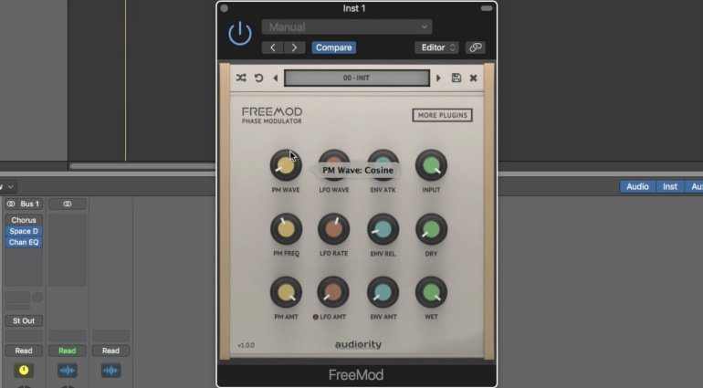 Audiority FreeMod Phase Modulator Plug-in GUI Logic