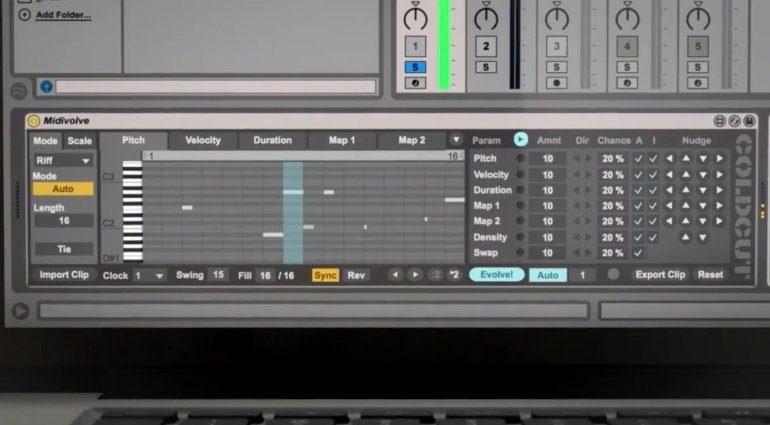 Coldcut MidiVolve - Arpeggiator, Riff Generator und Sequencer für Live