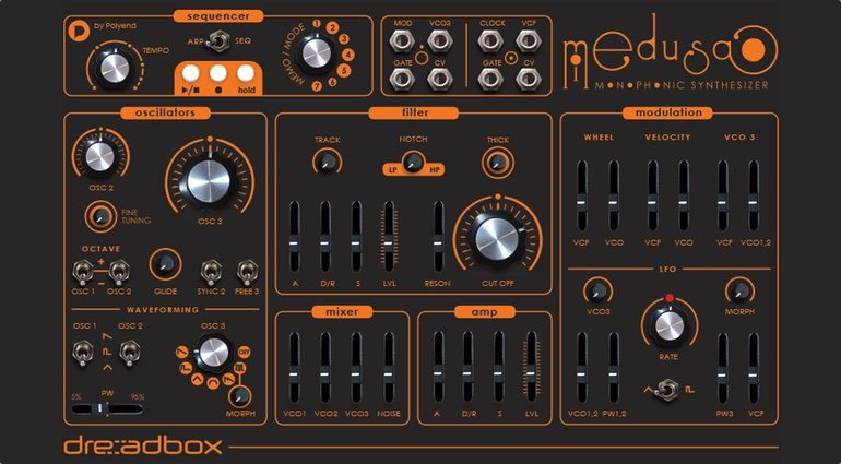 Dreadbox Medusa Synthesizer Front
