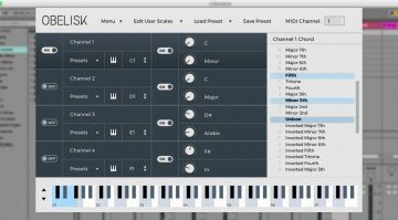 FrozenPlain Obelisk - MIDI Harmoniser als VST Plug-in