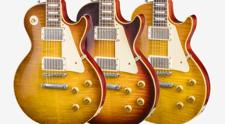 Gibson Custom Burstdriver loaded Les Paul in Amokey Quartz HAvana Fade and Amber Ale VOS finishes