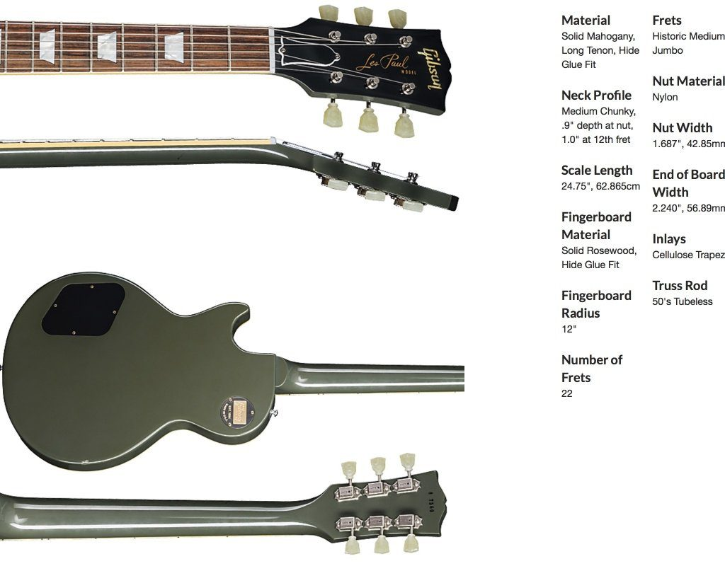 Gibson Les Paul Standard Oxford Gray product page