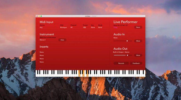 Live Performer App für Mac macht das Live Spielen einfacher