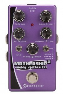 Pigtronix Mothership 2 analogue synth pedal Front