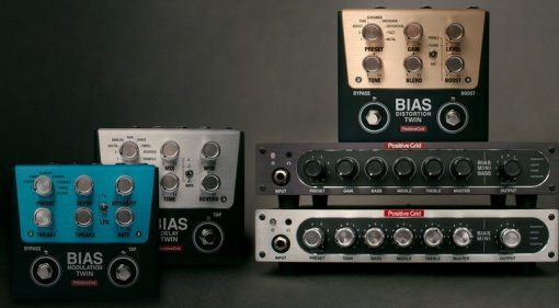 Positive Grid Bias Twin Pedals Mini Guitar Mini Bass Teaser