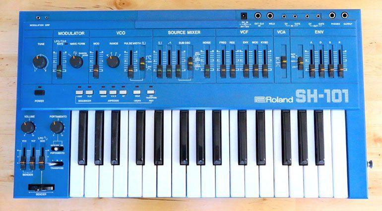 roland sh101 blue