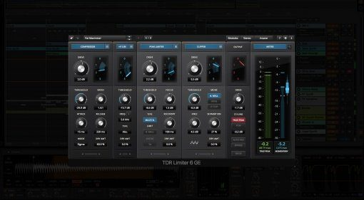 Tokyo Dawn Labs Limiter 6 Gentlemens Edition GUI Ableton Live 9