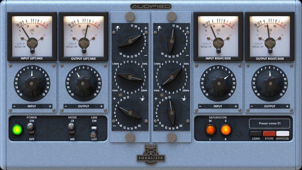 Audified RZ062b PLug-in GUI