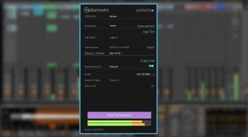 Audiomovers Listento Plug-in GUI Live 9