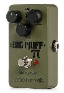 EHX green russian big muff Fuzz Pedal Front