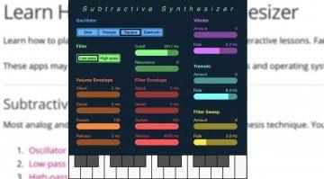 Ab in die Schule - Electric Telepathy zeigt kostenlos subtraktive Synthese