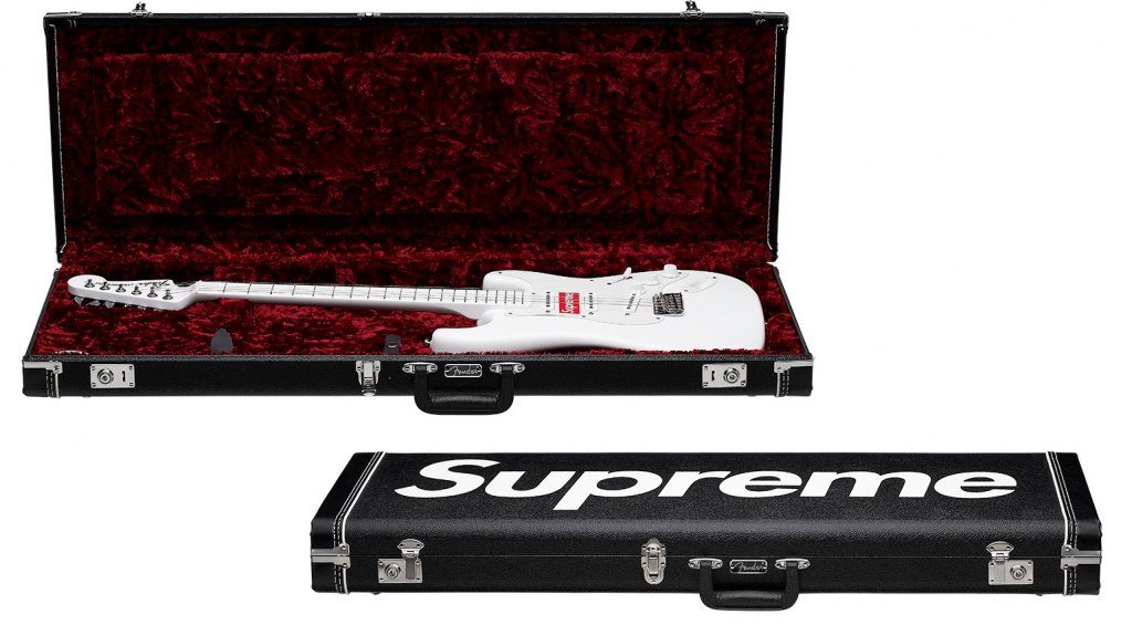 Fender Supreme Stratocaster Weiss Koffer