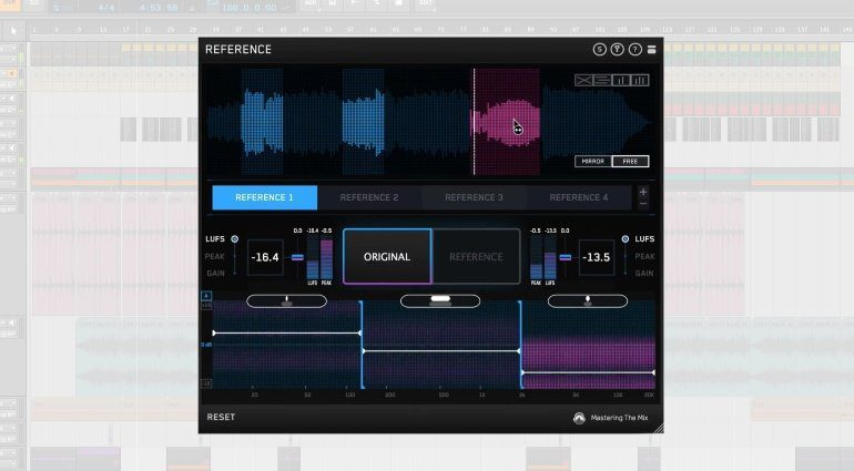 Mastering the Mix Reference Plug-in GUI Bitwig