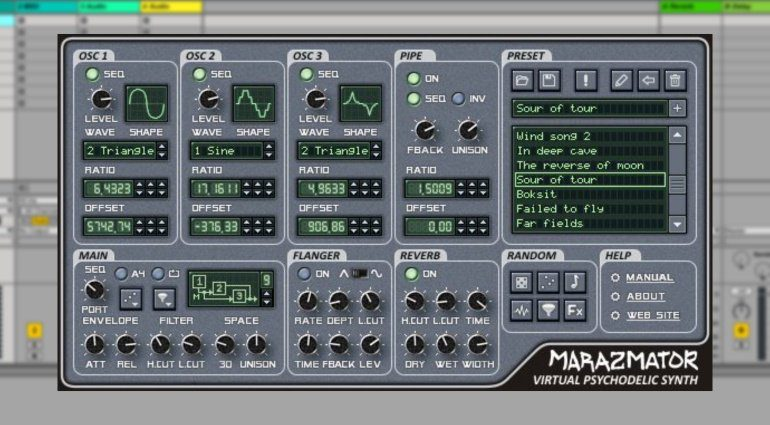 Stone Voices Marazmator - psychedelischer Freeware Synthesizer